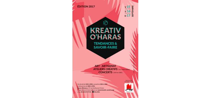 KreAtiv O'Haras – 15,16 & 17 septembre 2017 à Annecy