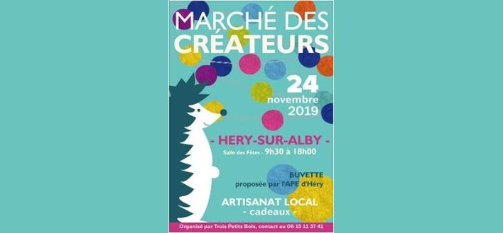 Marché des Créateurs – 24 novembre 2019 – HERY SUR ALBY
