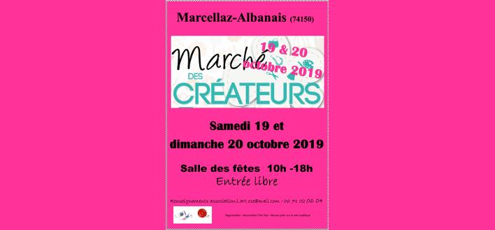 Marché des Créateurs – 19 & 20 octobre 2019 – MARCELLAZ ALBANAIS